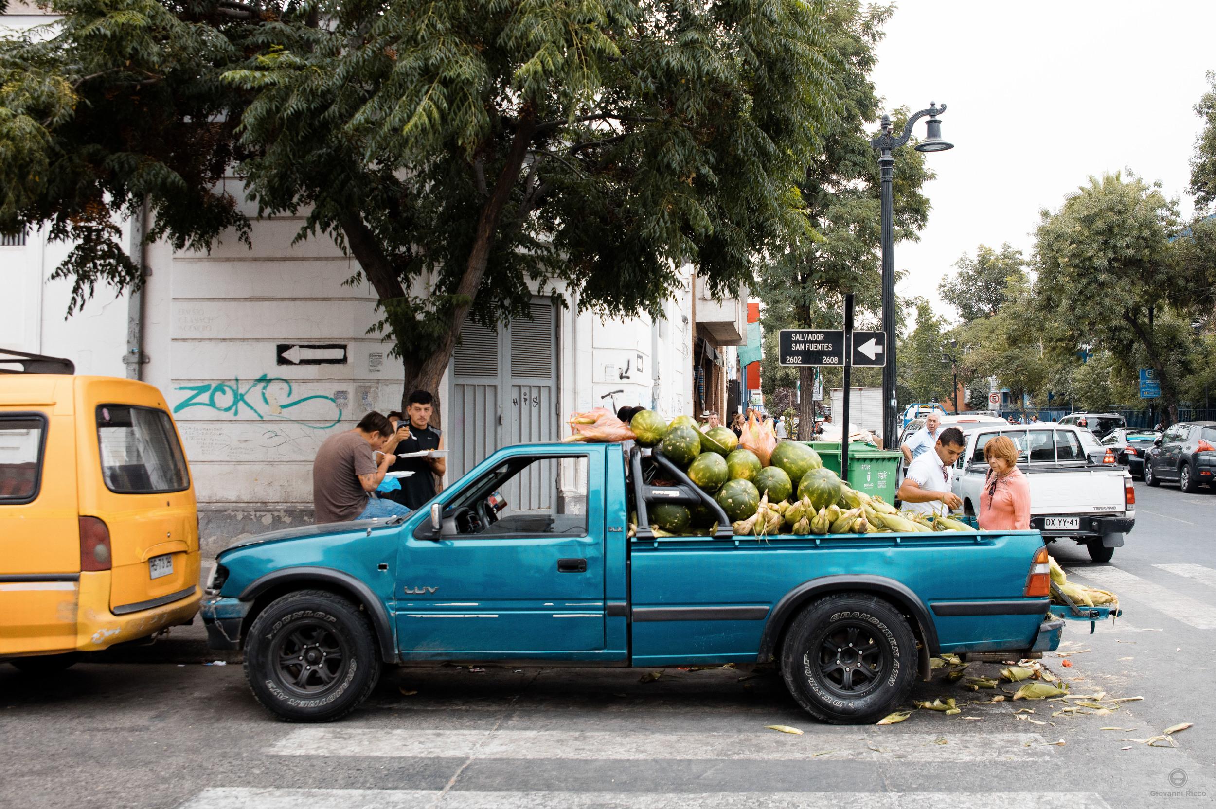 Fruit vendor in Santiago