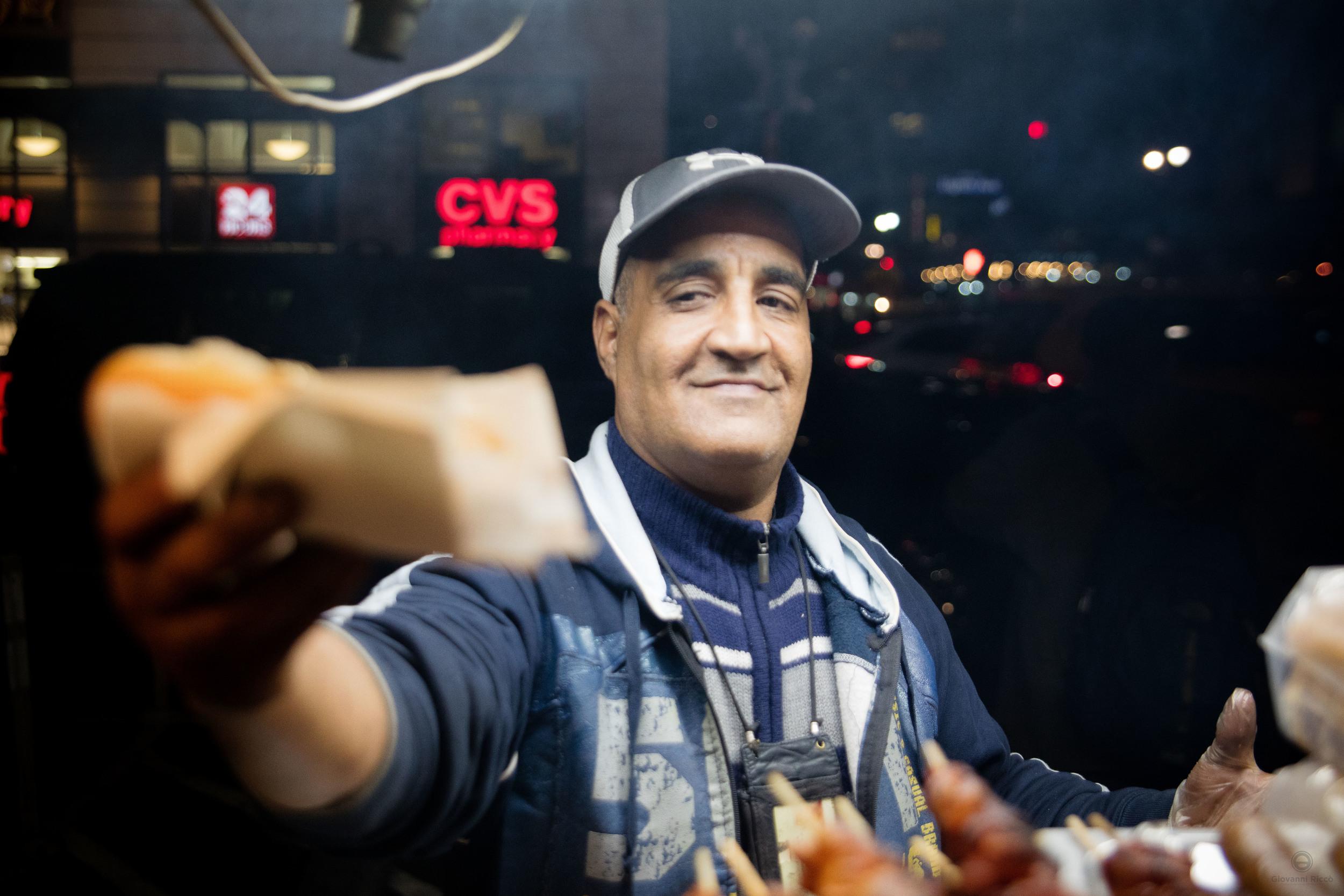 Food vendor in NYC