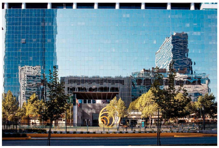 New buildings in Santiago