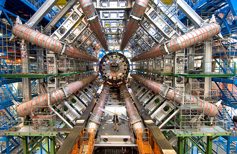The Large Hadron Collider at CERN, a giant particle accelerator for studying fundamental physics and the largest machine ever created by humanity.