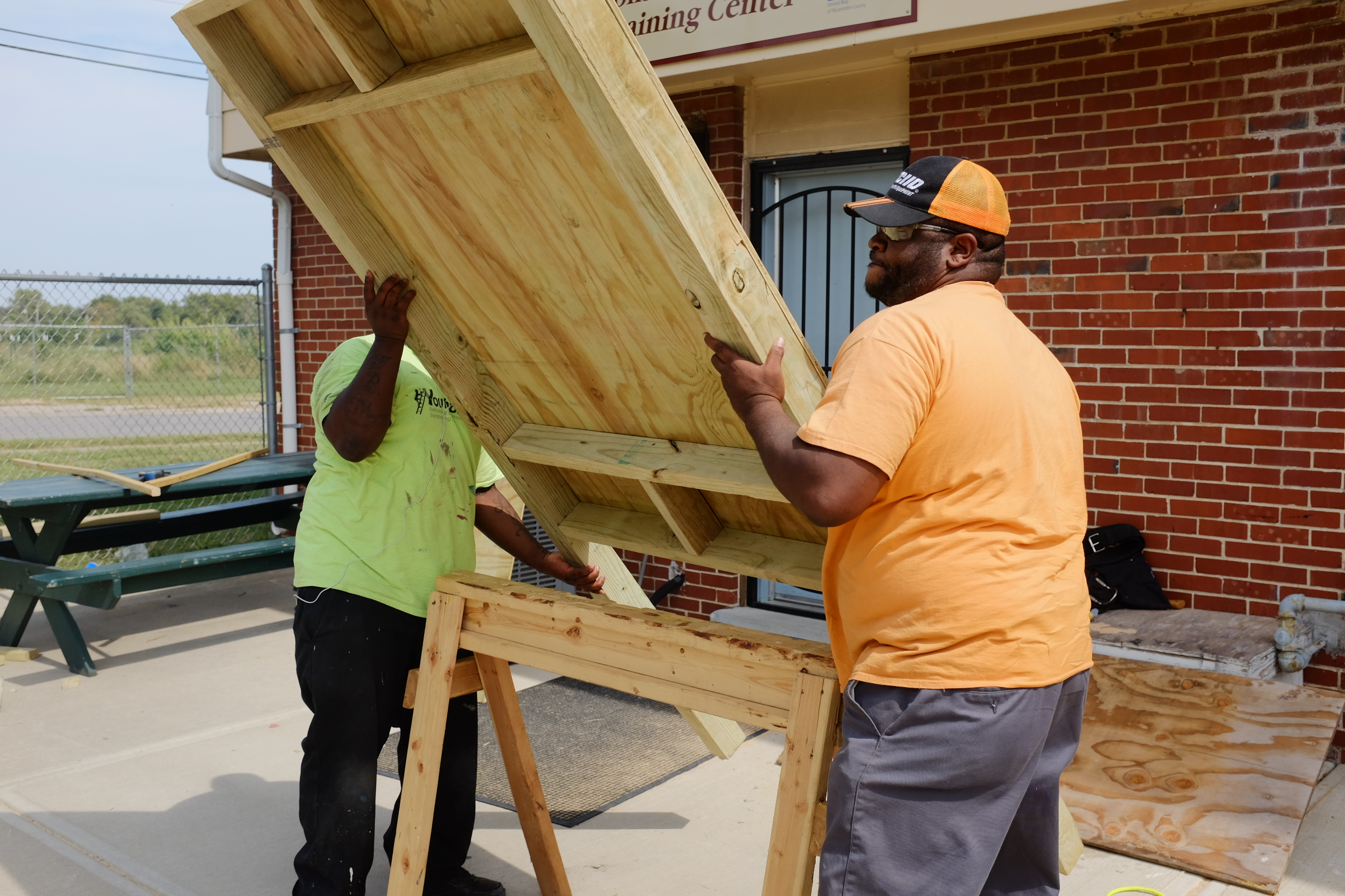 YouthBuild used the park elements as an opportunity for skills training.