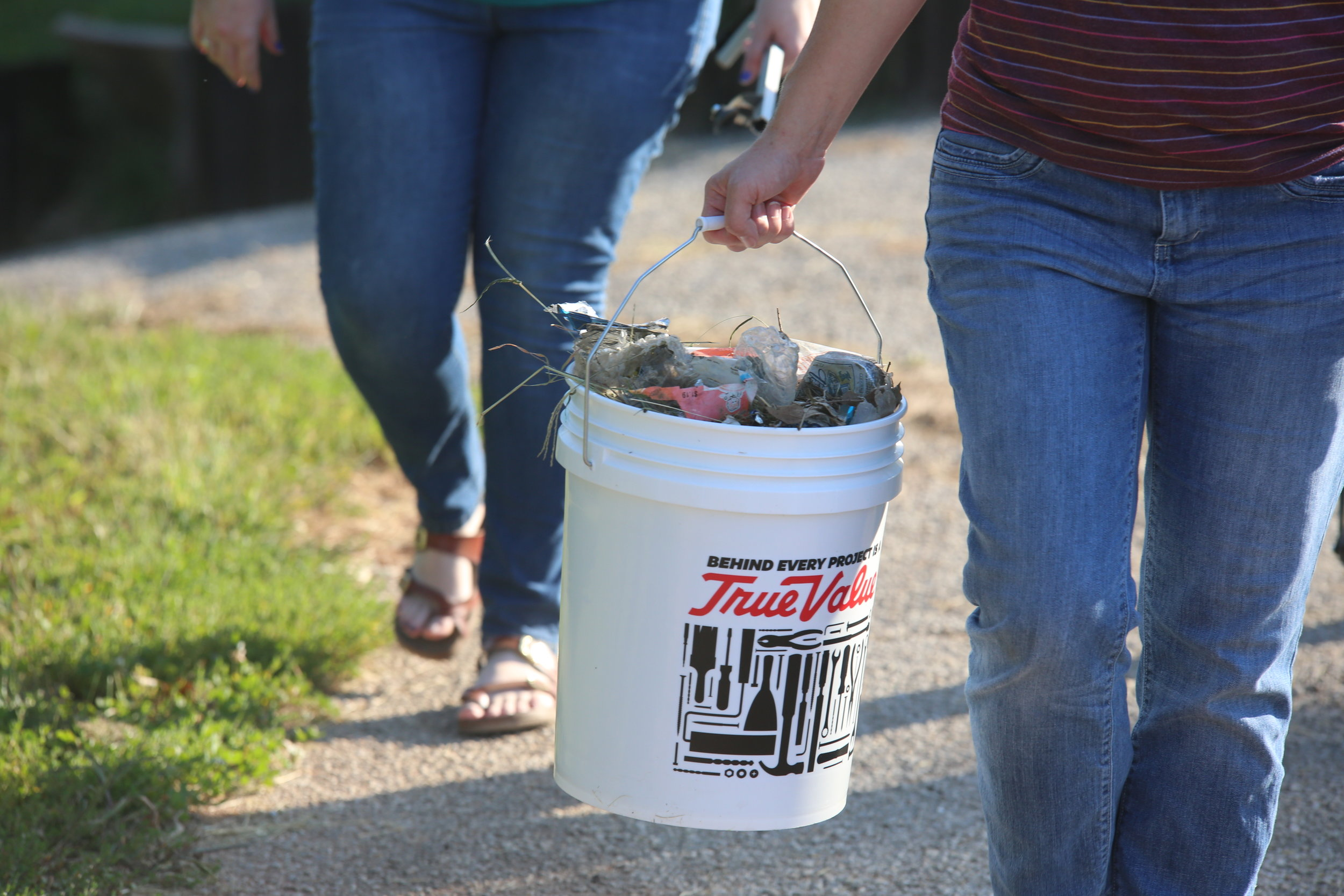 Much of the trash was from tobacco and plastic bottles, many of which had been shredded by lawnmowers.