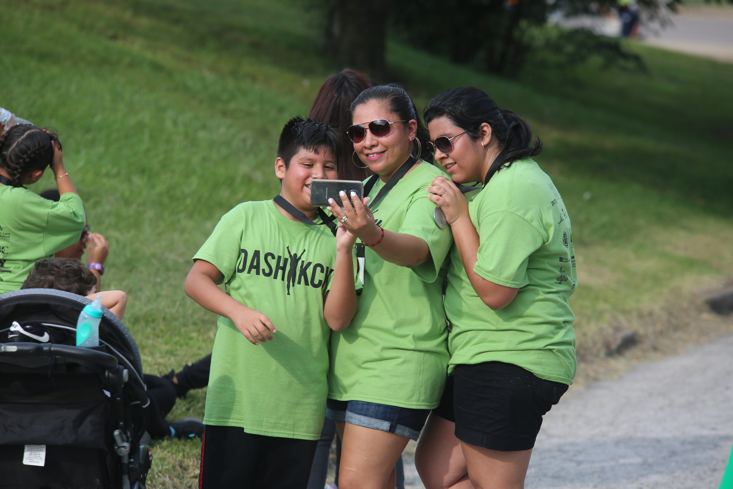 Dash KCK 5k participants the next day enjoyed their run on the Jersey Creek Trail.