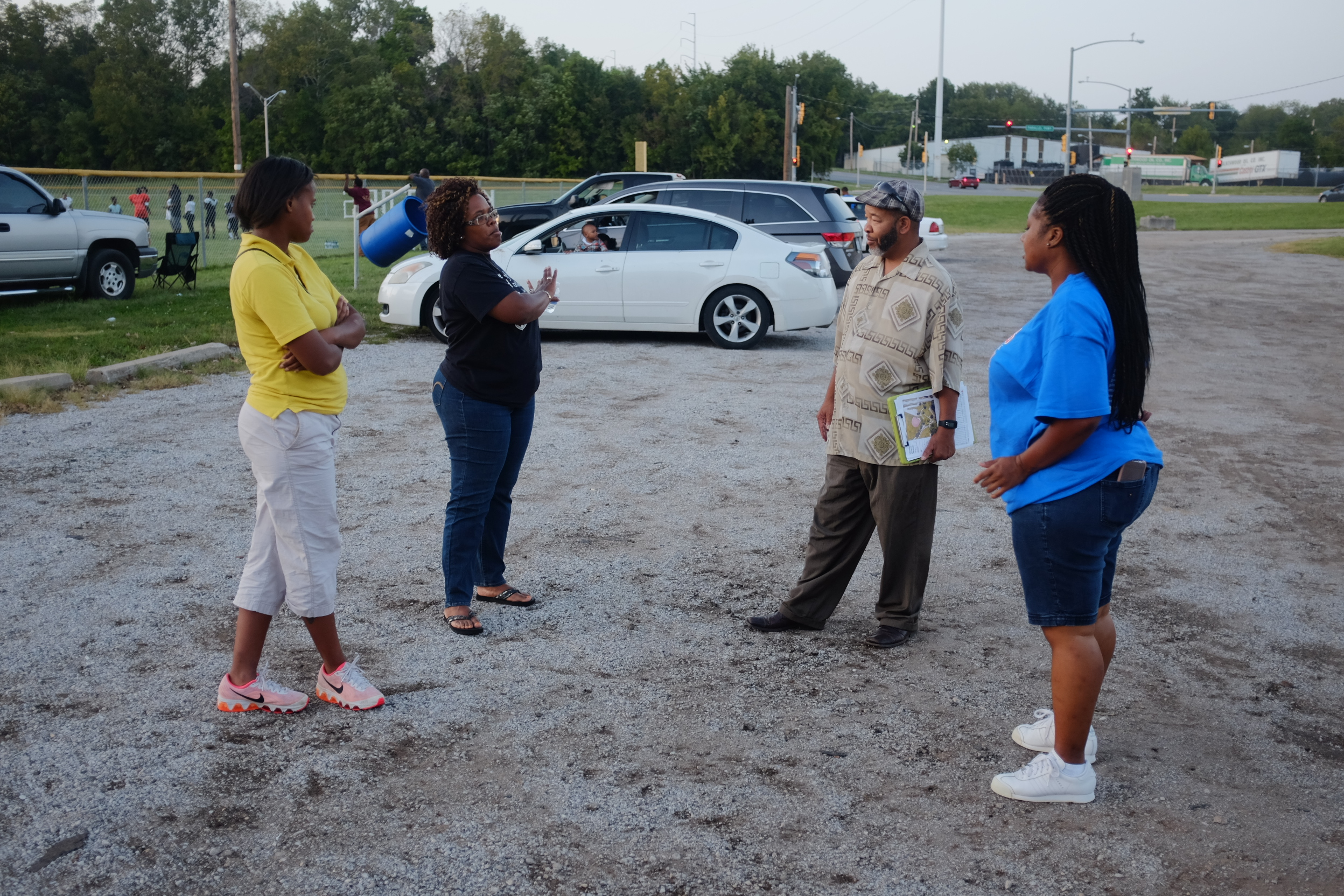Parents of the KC Gators football team shared their stories about wanting to use the park more.