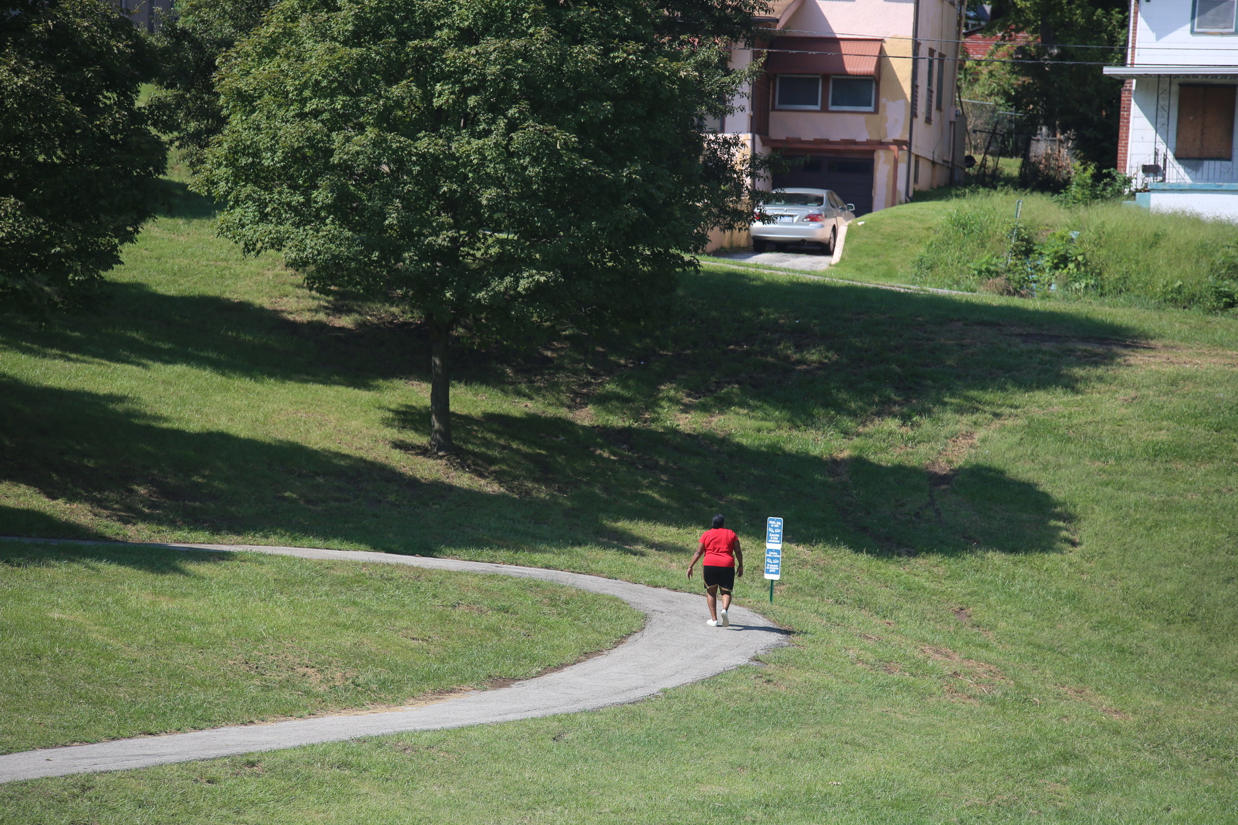 The signage was placed strategically throughout the park to be highly visible to walkers on the trail.