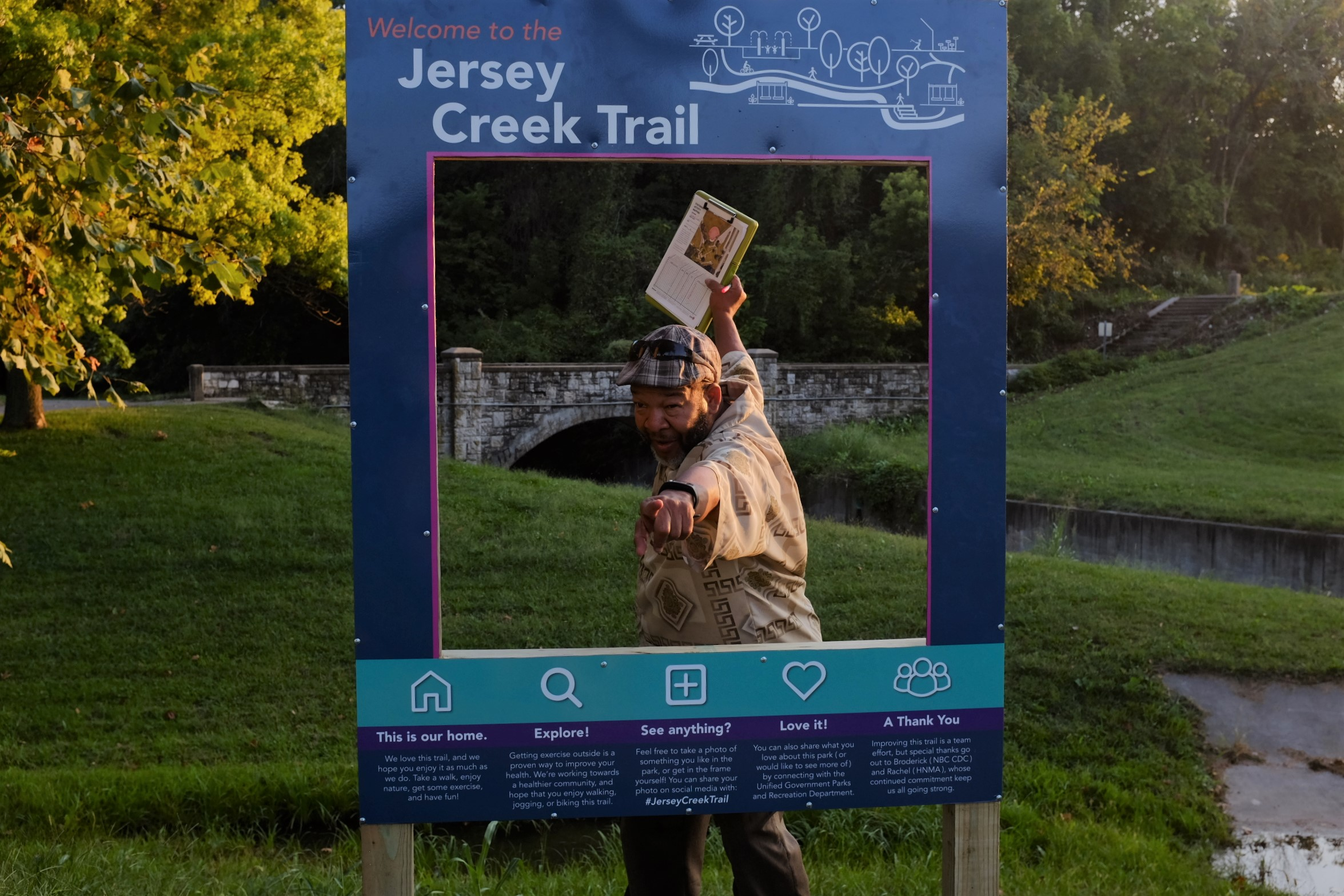 Broderick Crawford, the man keeping the ball rolling on the Jersey Creek Trail.