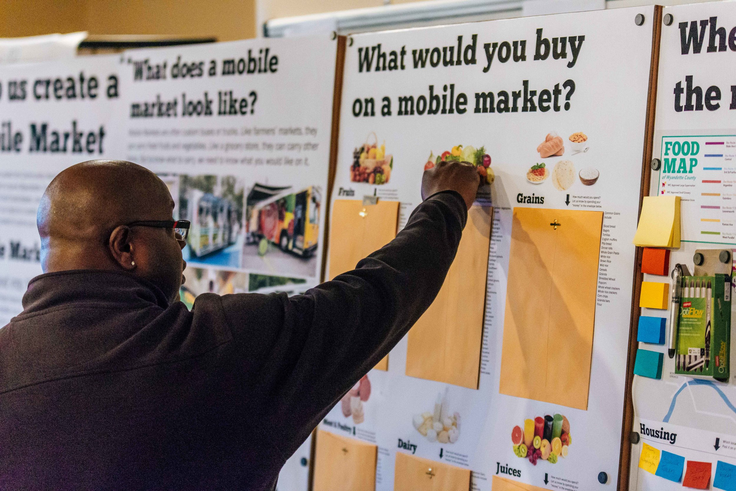 Wyandotte County resident participating in the future developmemt of the Mobile Market
