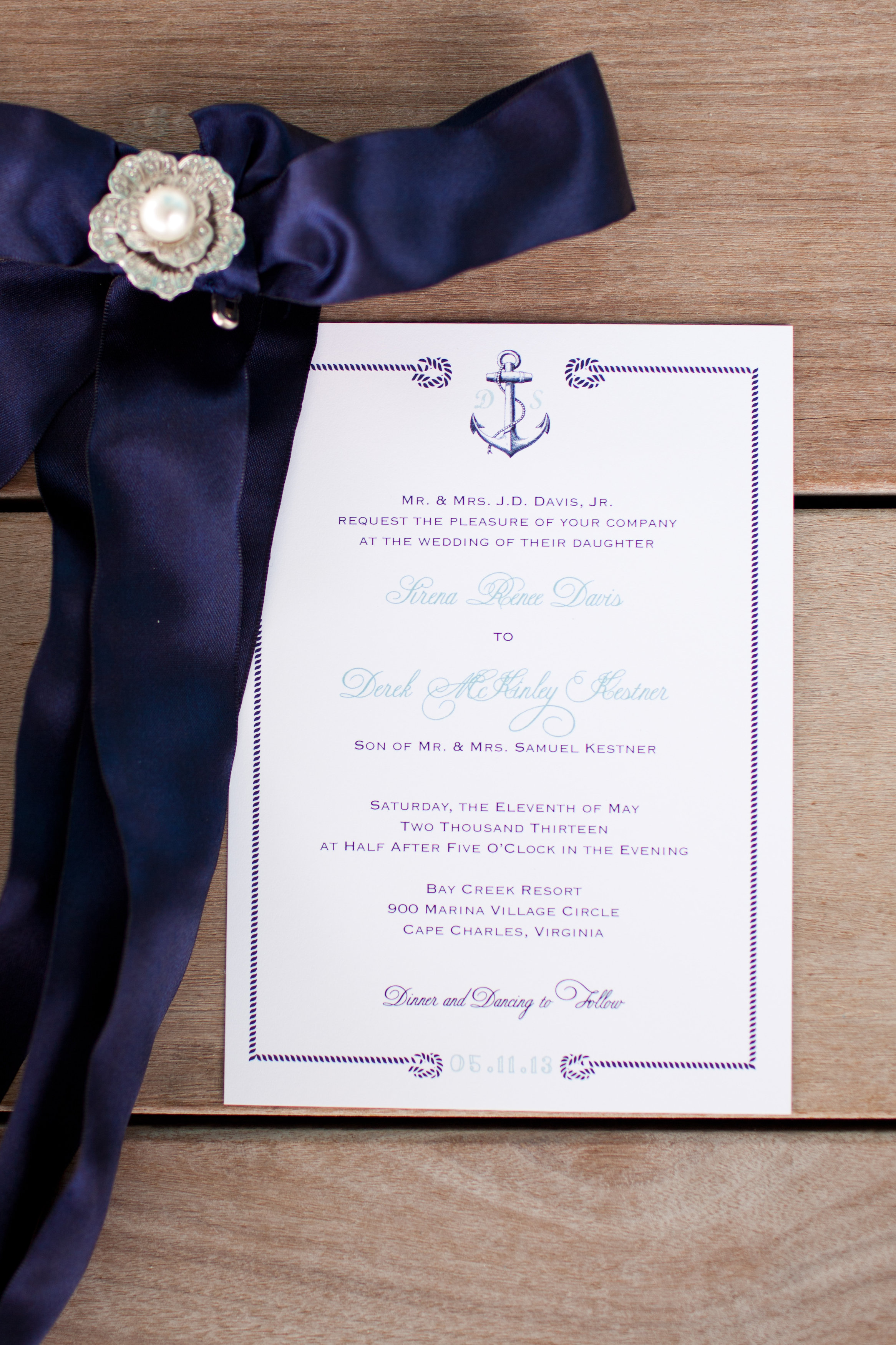 Virginia Beach, Hampton Roads wedding invitations