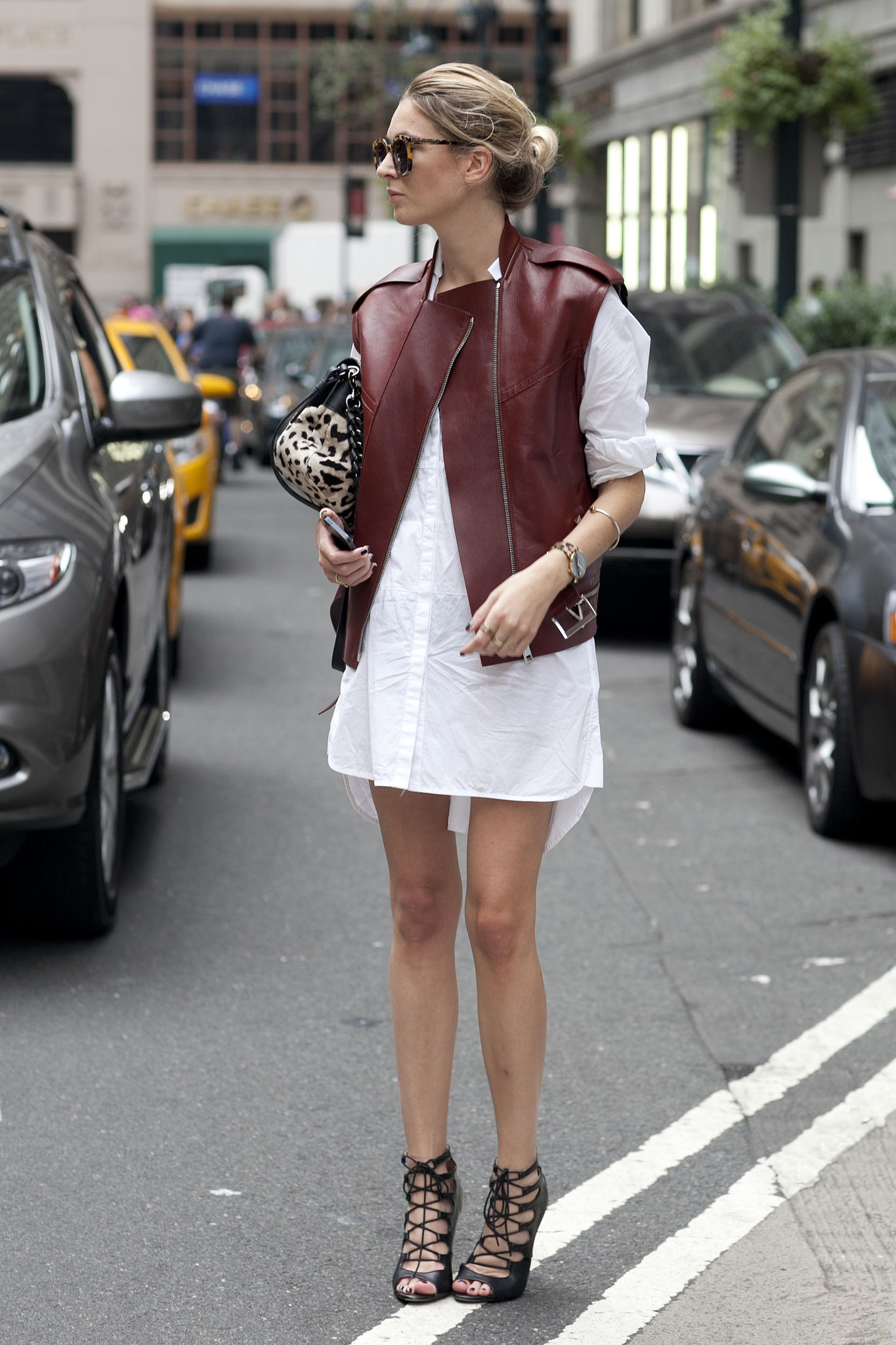 She-toughened-up-white-shirt-dress-burgundy-leather-hot.jpg