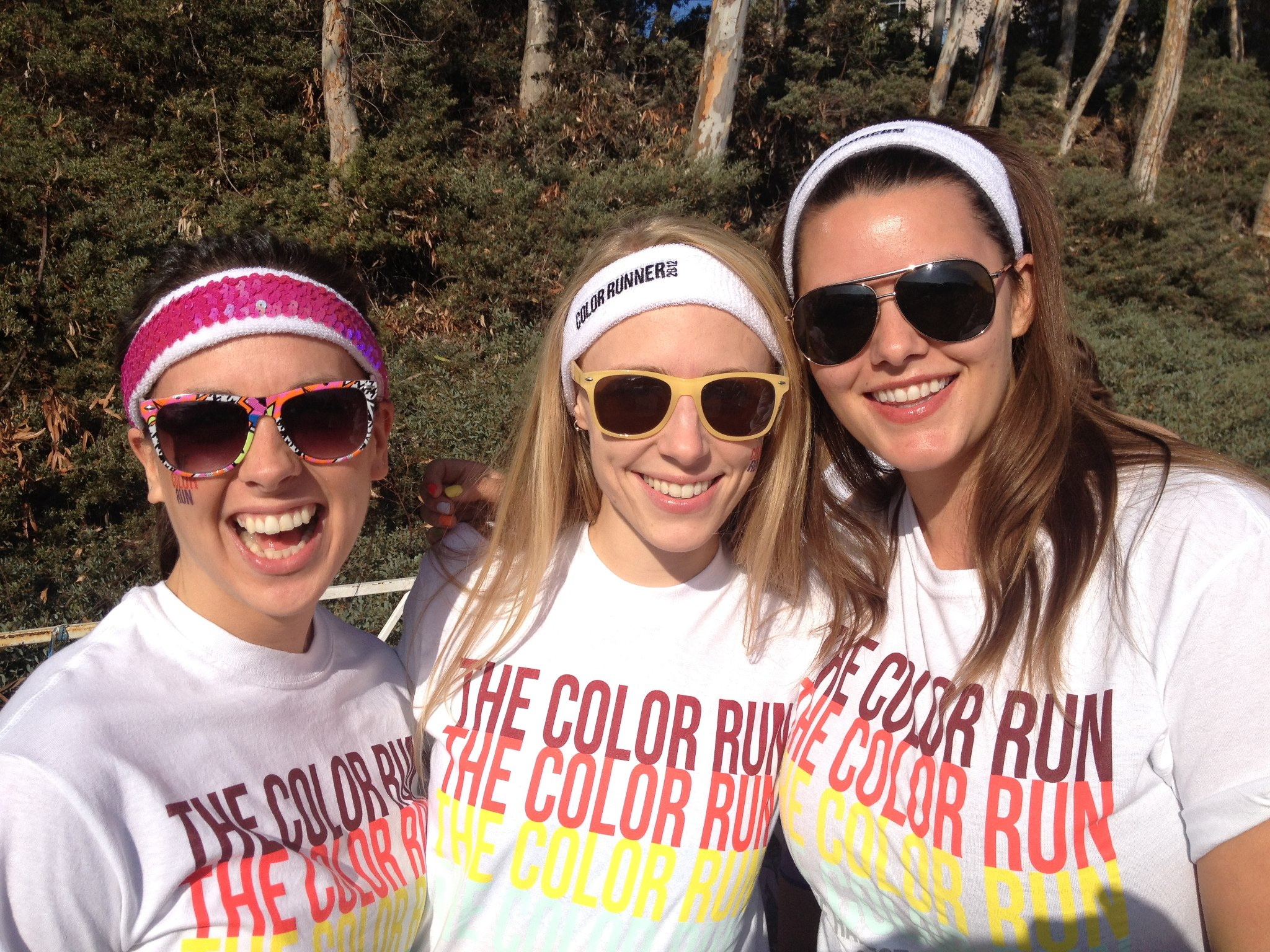 The author and some friends before The Color Run 5K