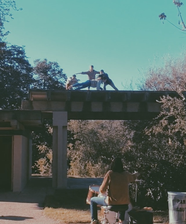 Clubhouse - dance nature / nature danceNovember 22, 2015Ricky Guerrero Park. Austin, TXOur first public choreographed work was performed on the rooftop of a local Austin park pavilion. Live accompaniment performed by Richard Millsap.