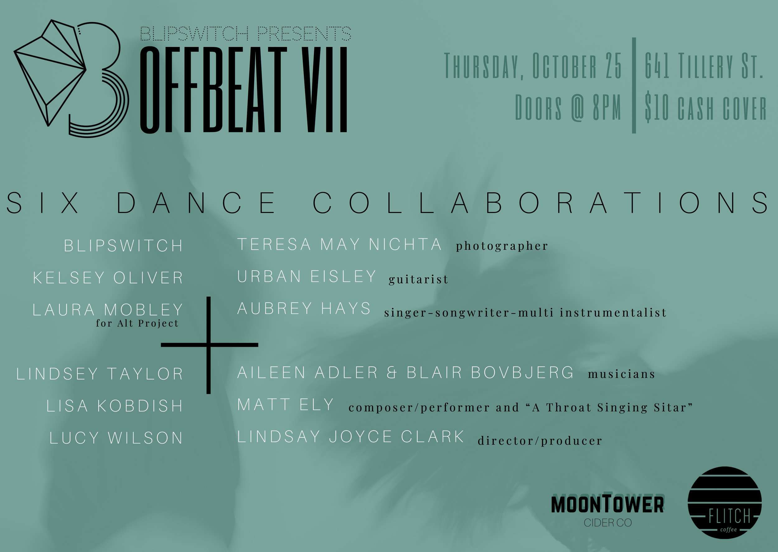 BLiPSWiTCH presentsOffbeat VII - October 25, 2018Flitch Coffee. Austin, TX
