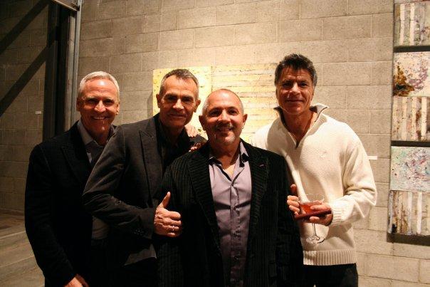 Bill Merrill, Michael Mooney, Artist Paul Ecke and Mitch Hollander