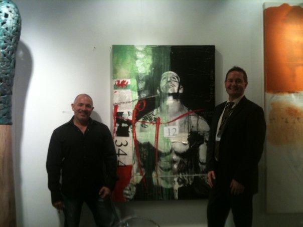Paul Ecke Artist and Paul Dahmen Director of Gebert Gallery, Los Angeles