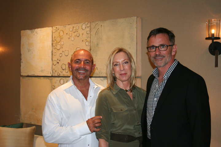 Artist Paul Ecke with Showroom Manager Mark Hemphill