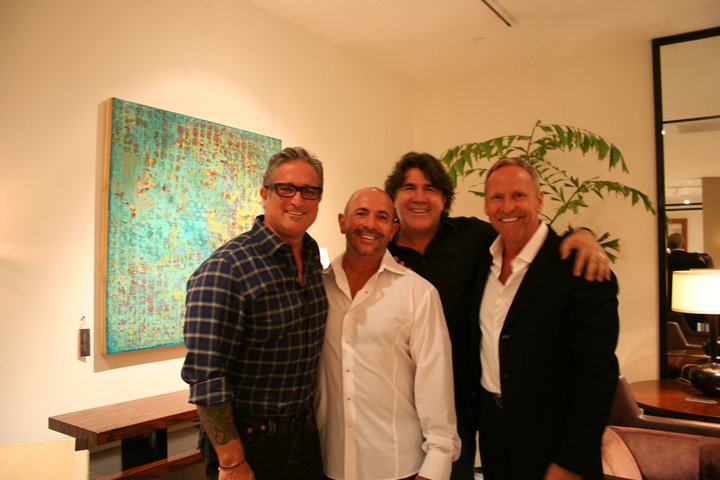 Roger Canevari, Artist Paul Ecke, Darrell Brown and Gallery Owner William Merrill