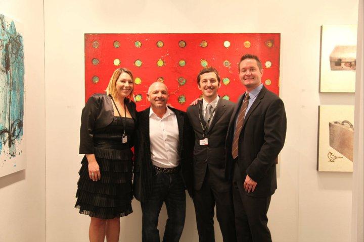 Shawnna Gebert, Artist Paul Ecke, Sandro Gebert Gallery Owner and Gallery Director Paul Dahmen