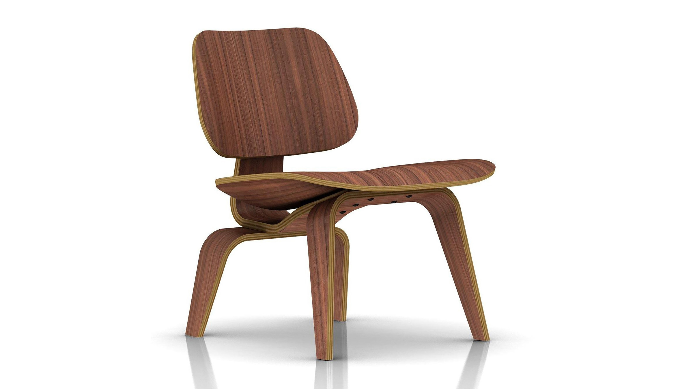 Eames Molded Plywood Lounge Chair with Wood Base (1945) | Herman Miller