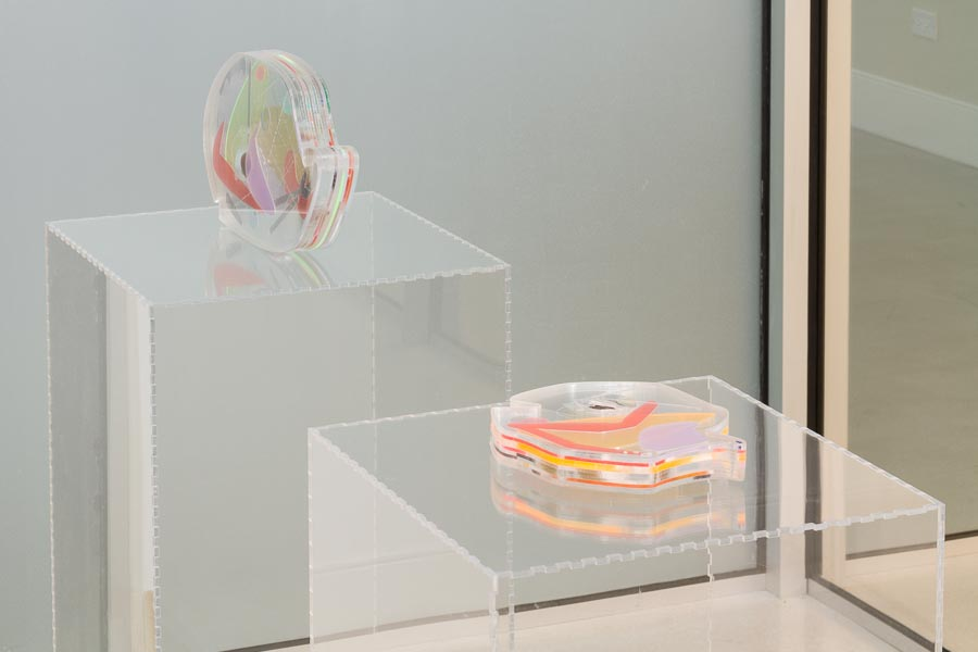 Kayla Anderson     Future Reliquaries (installation),  2015    Acrylic, collected objects    Approximately 12 x 10 x 1.5 inches (size variable)    Kayla Anderson     Future Reliquaries: No.10 Meteor,  2015    Acrylic, collected objects    Approximately 12 x 10 x 1.5 inches (size variable)    Kayla Anderson