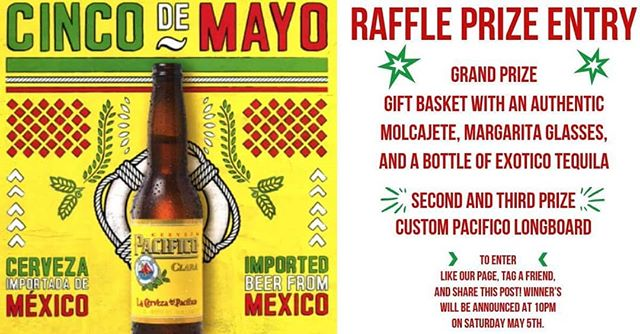 We have prizes! To enter LIKE us on Instagram and Facebook, tag a friend, and share this post! Winners will be announced at 10pm on Saturday May 5th. #readysetcinco #ole #olerestaurantgroup #tequila #fiesta #pacifico