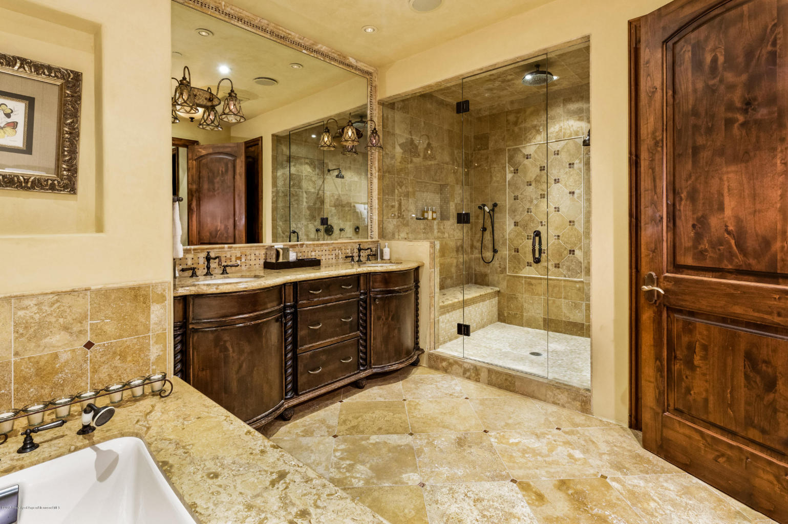 The expansive master bath.