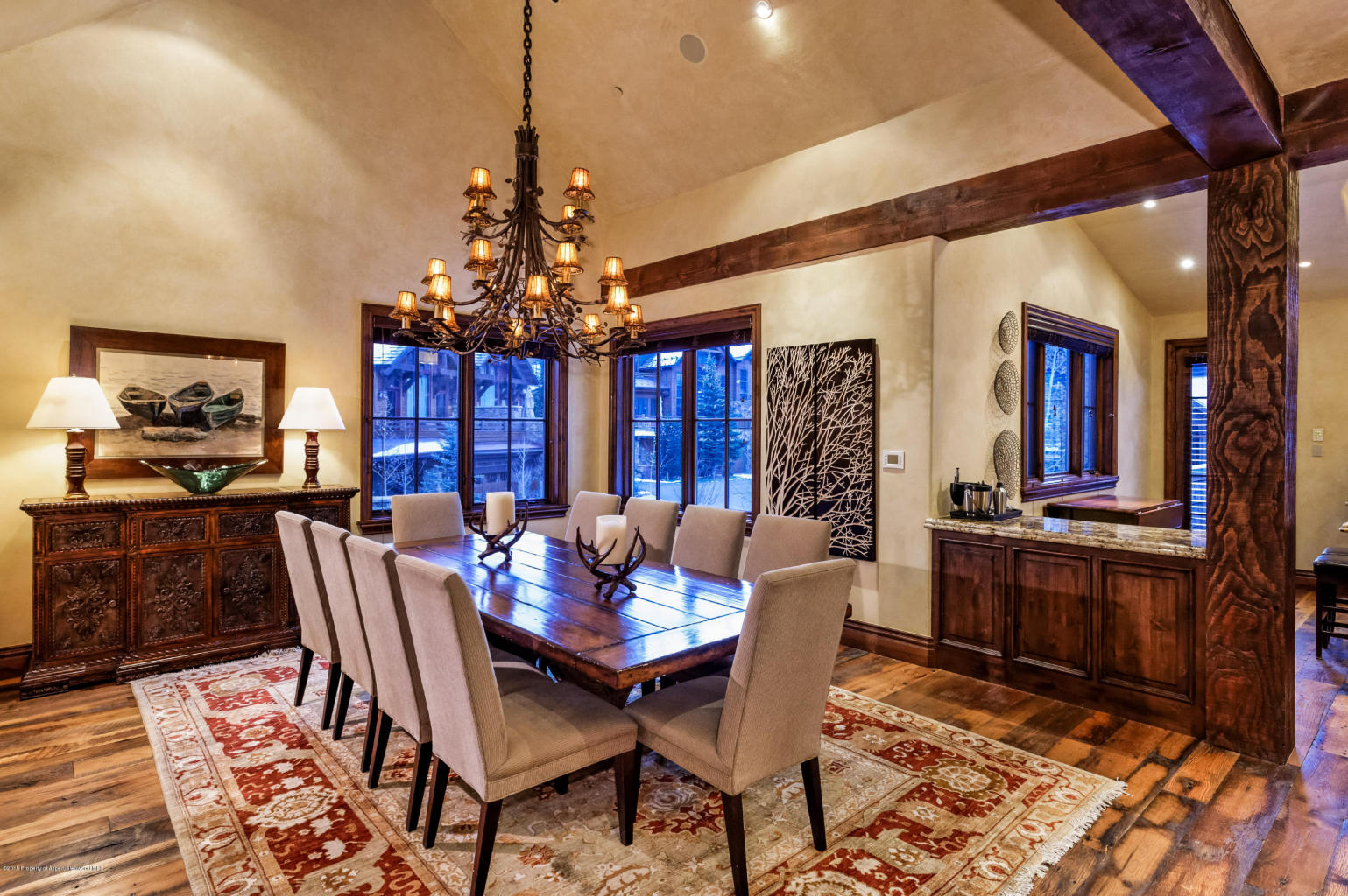 Entertain in the spacious dining area.