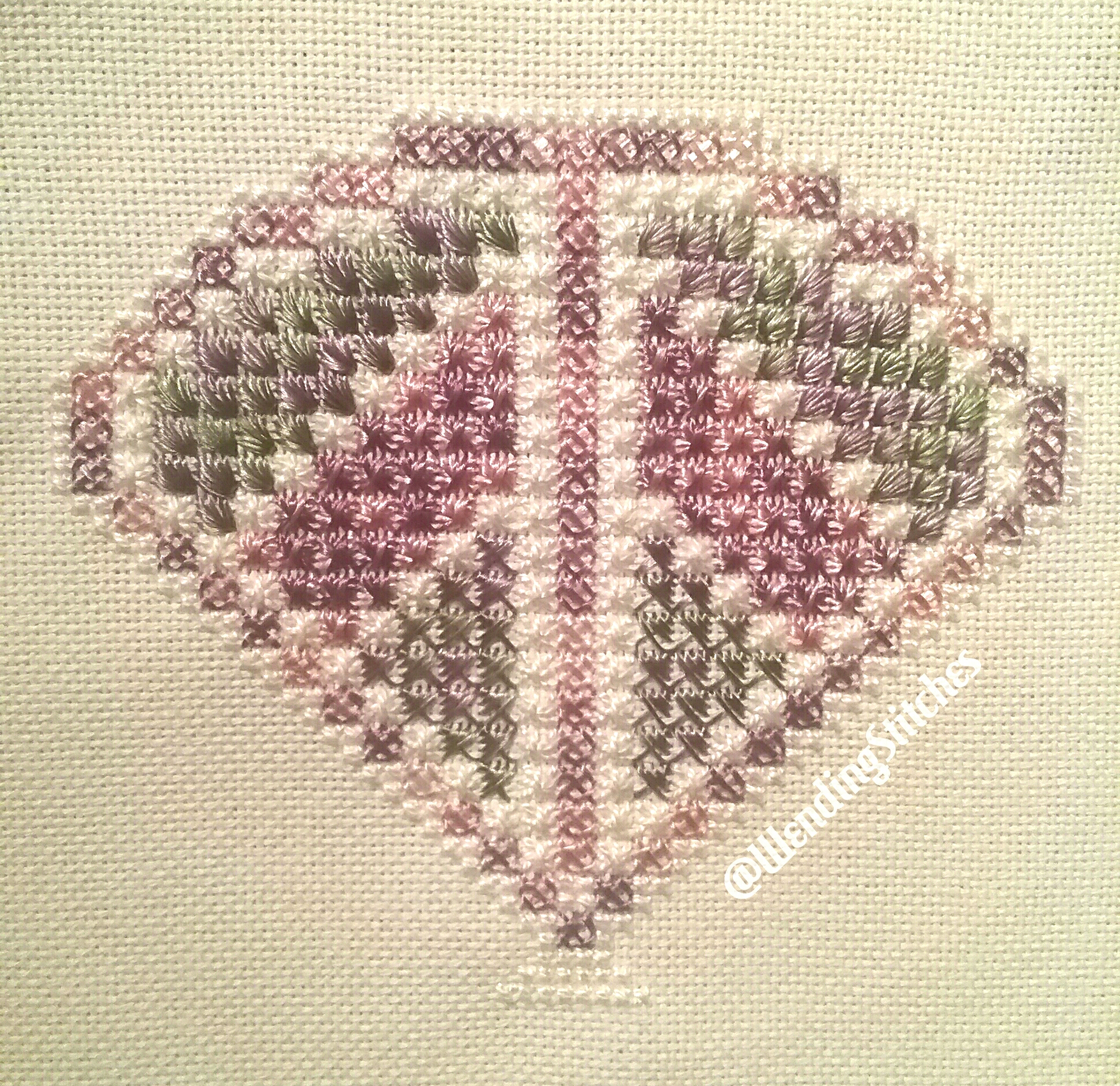 Colours used: African Violet and Candy Mix Charted and Stitched by Wending stitches Facebook:  Wending Stitches  Instagram:  @wendingstitches