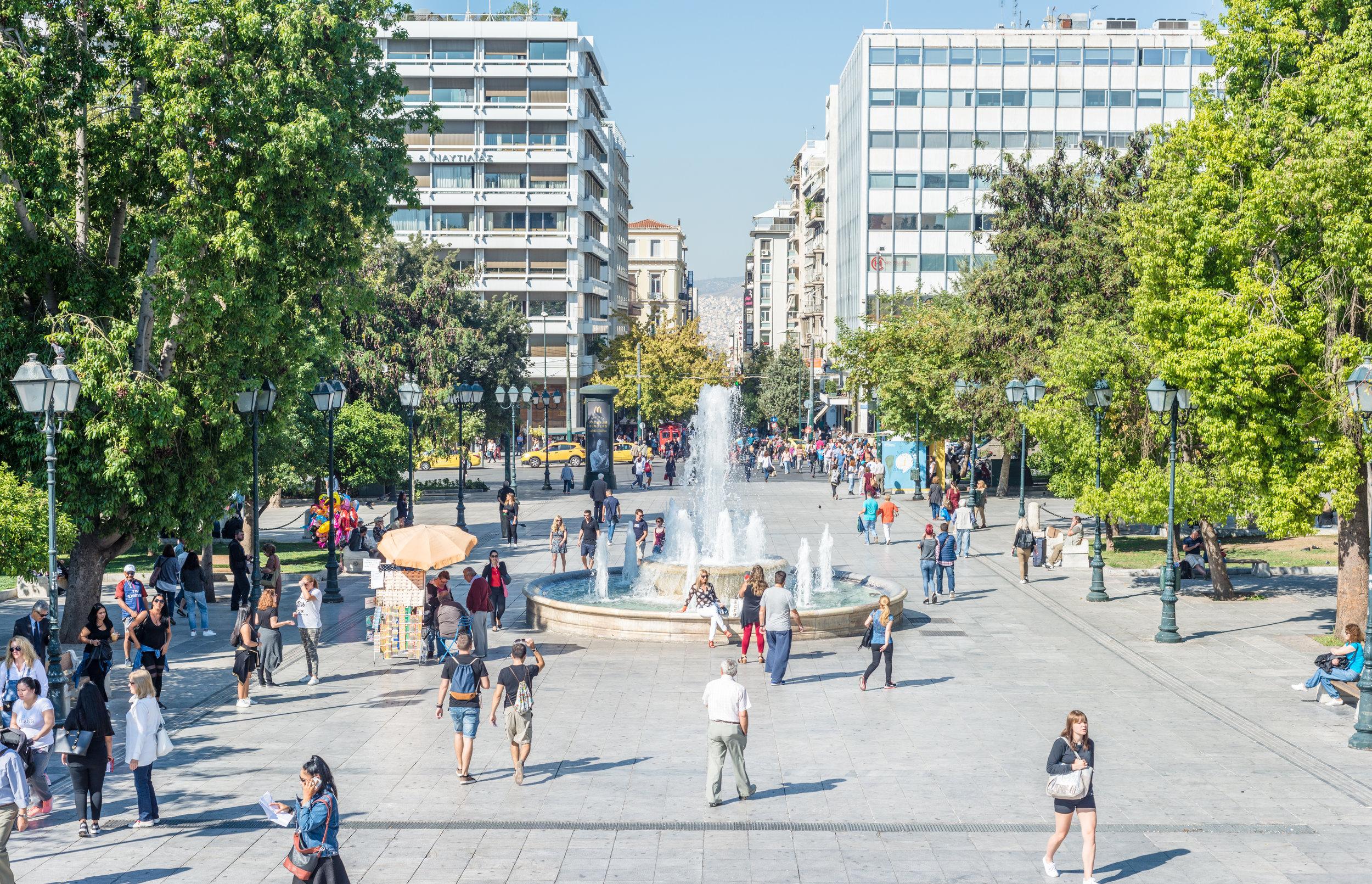 Downtown Athens, Greece