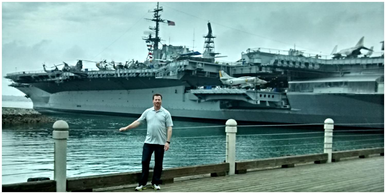Matt Moran at U.S.S. Midway