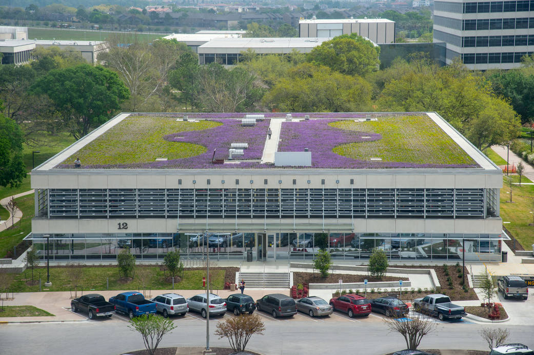 Newly remodeled training building at NASA Johnson Space Center where course was held.