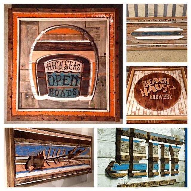 corey hudson art -Salvaged Wood Art saturday