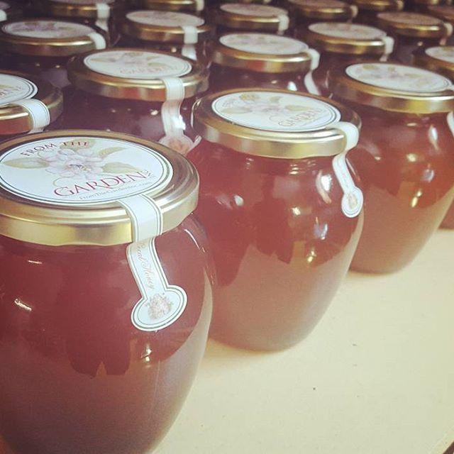 from the garden - local, raw honey Saturday