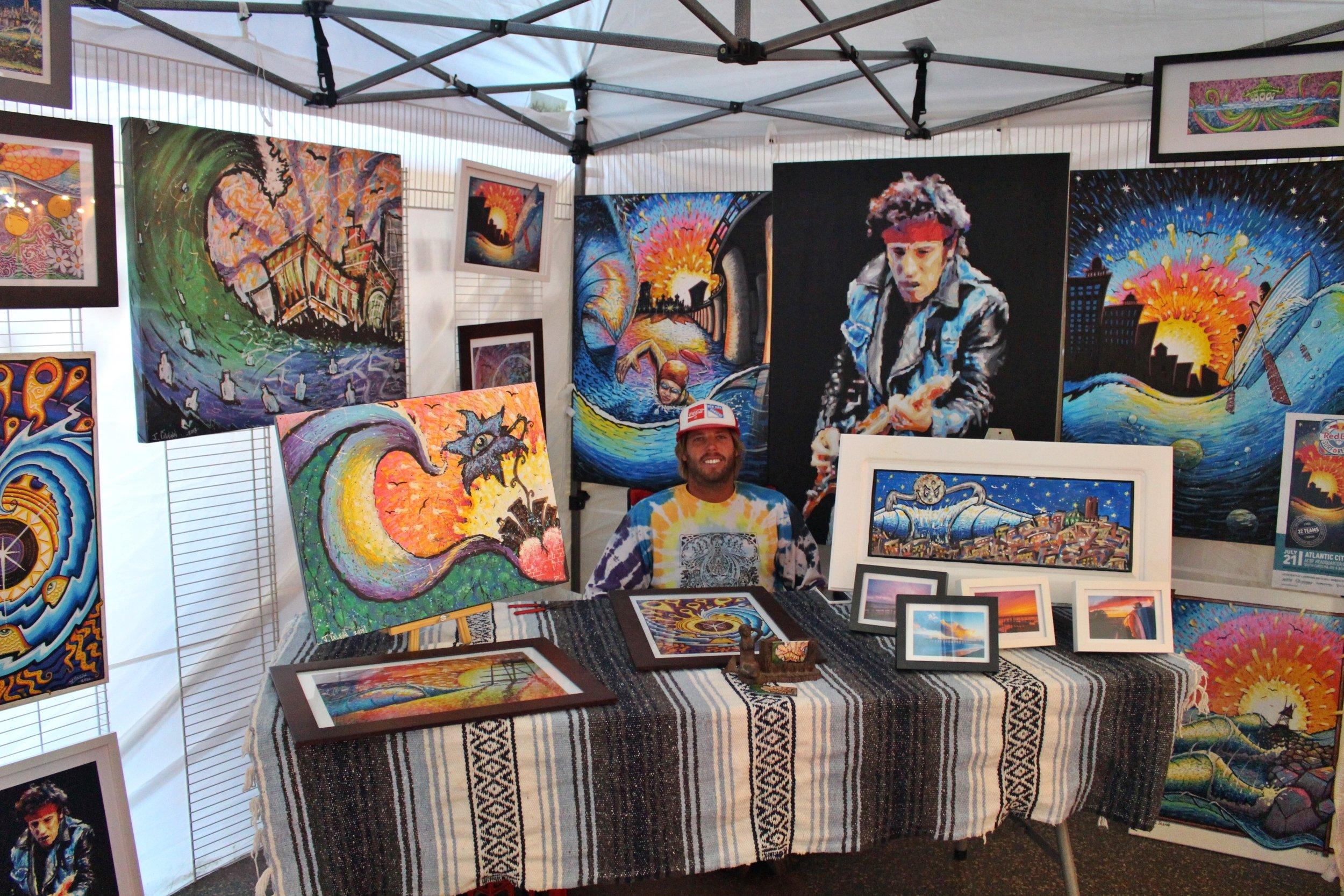 john glenn art - surf & ap inspired art saturday