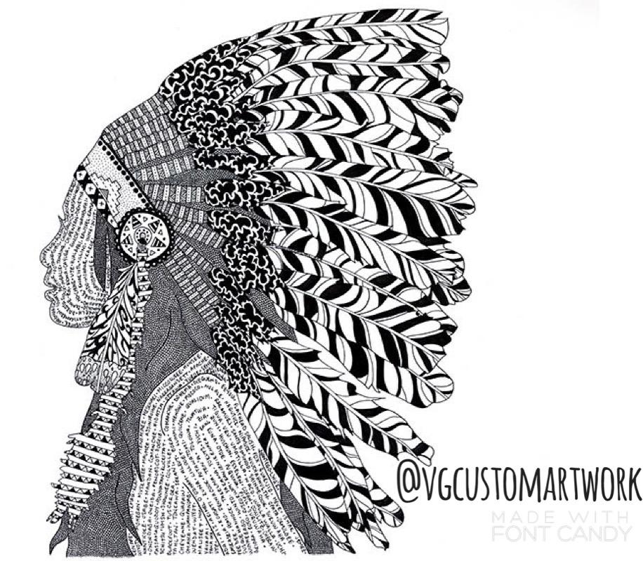 vg custom artwork -original ink art sunday