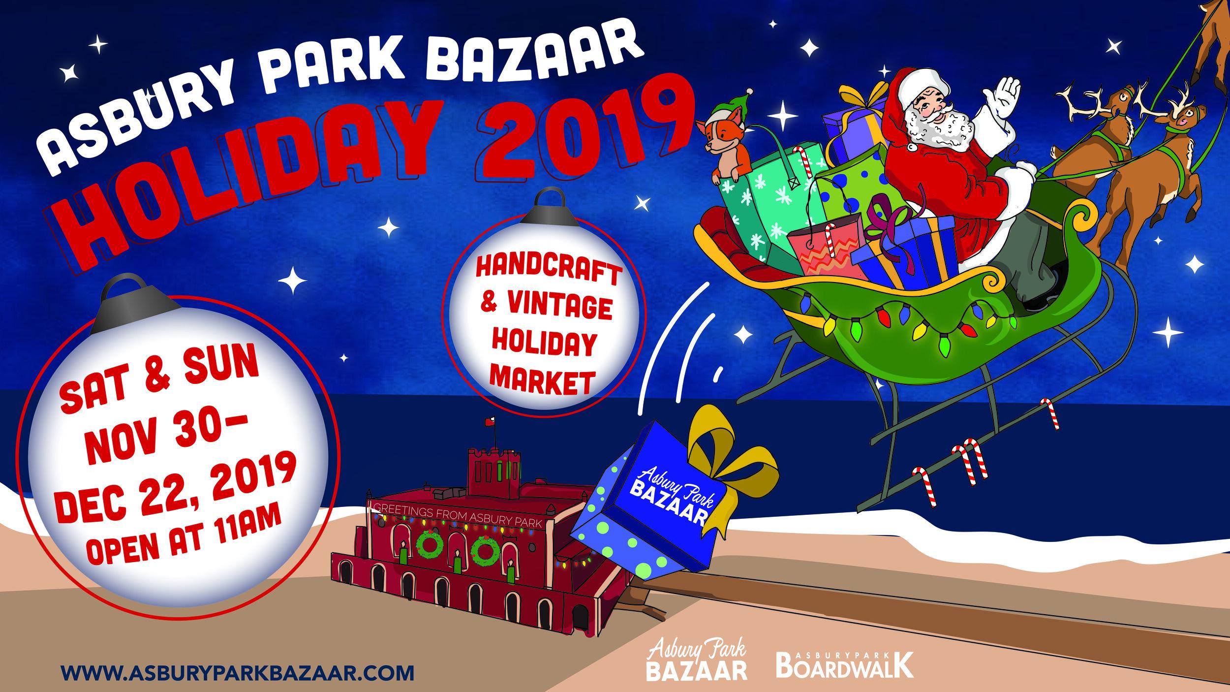 Asbury Park Christmas Bazaar 2020 Asbury Park Holiday Bazaar 2019 — Asbury Park Bazaar