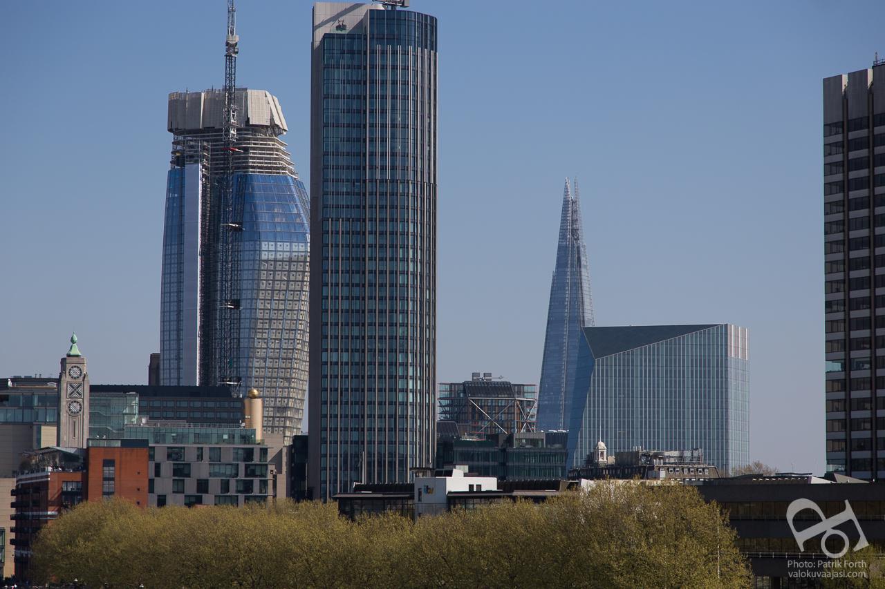 One Blackfriars, South Bank Tower, The Shard and 240 Blackfriars