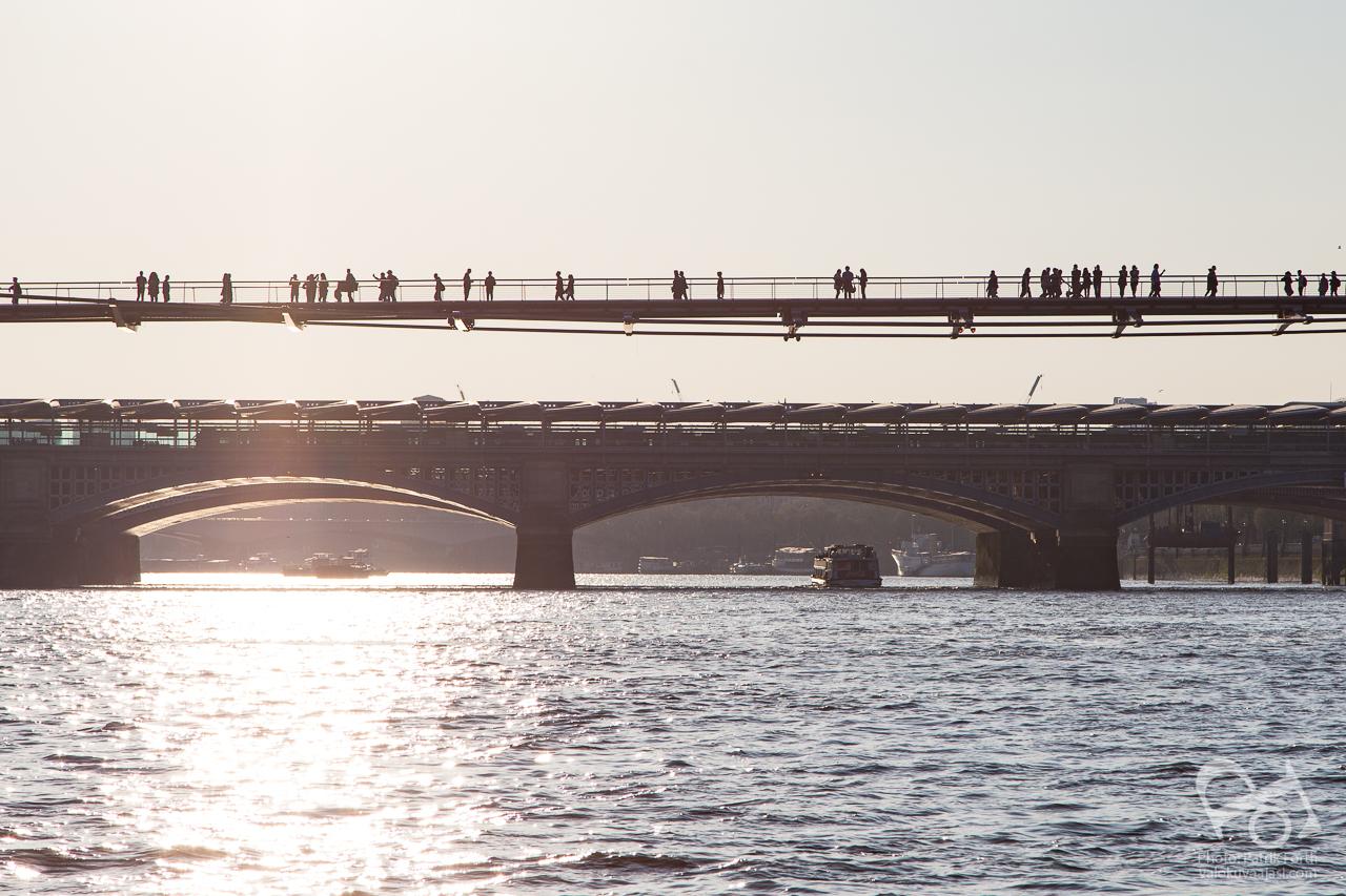 Millennium Bridge and Blackfriars Bridge