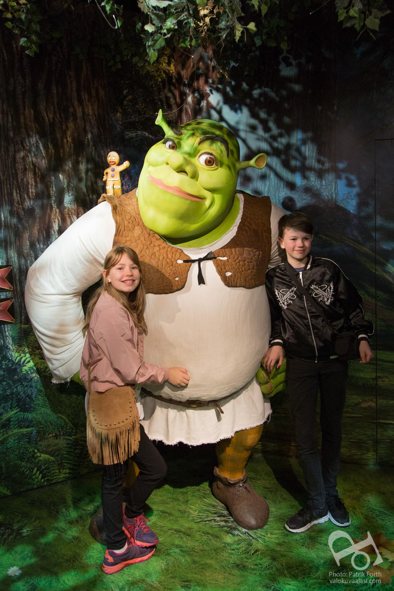 Madame Tussauds - Shrek & Gingerbread man