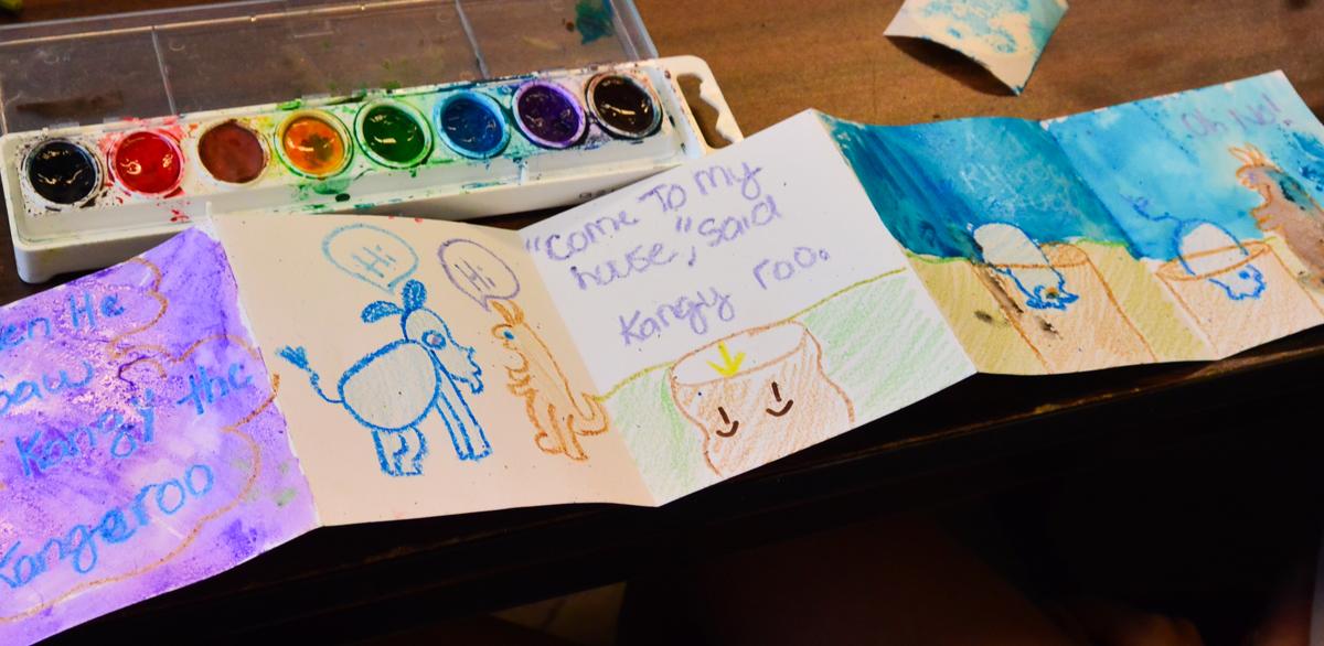 """""""Make a Book"""" student art activity."""