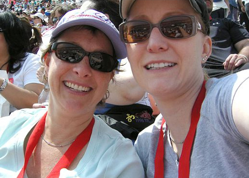 With Shereen at the Revlon Walk in 2008.