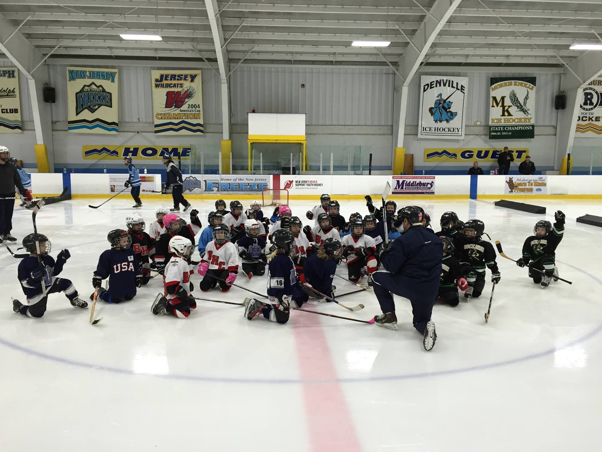January 4, 2016 -  LVCM Youth Ice Hockey Club  hosted a Mini-Mite Jamboree consisting of approximately twenty 4-6 year-olds at  ASPEN ICE at Randolph ! Thank you for joining us!