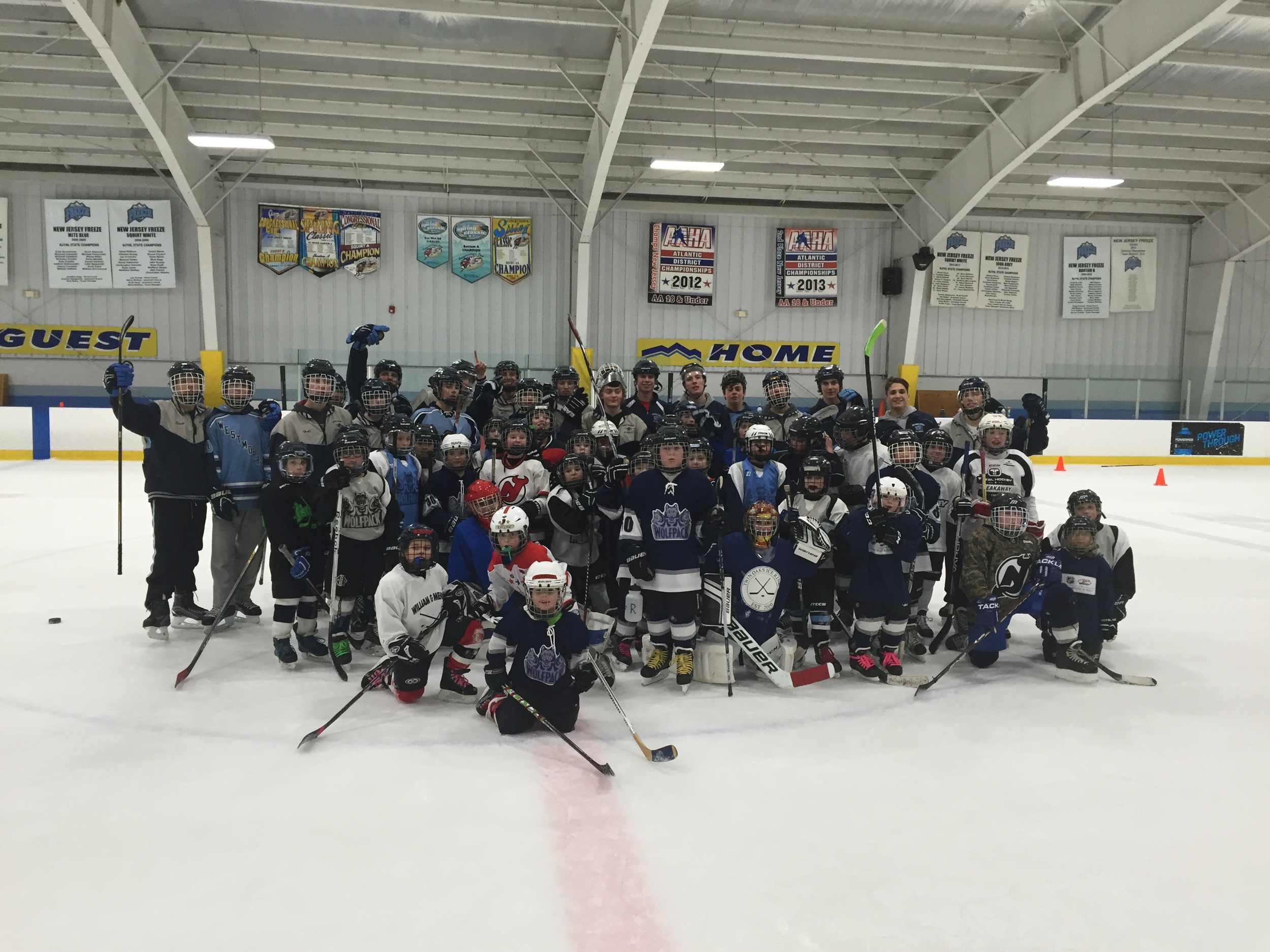 February 2016 -  Thank you to the   West Morris Central High School   Varsity Hockey Team for spending a night training our players!