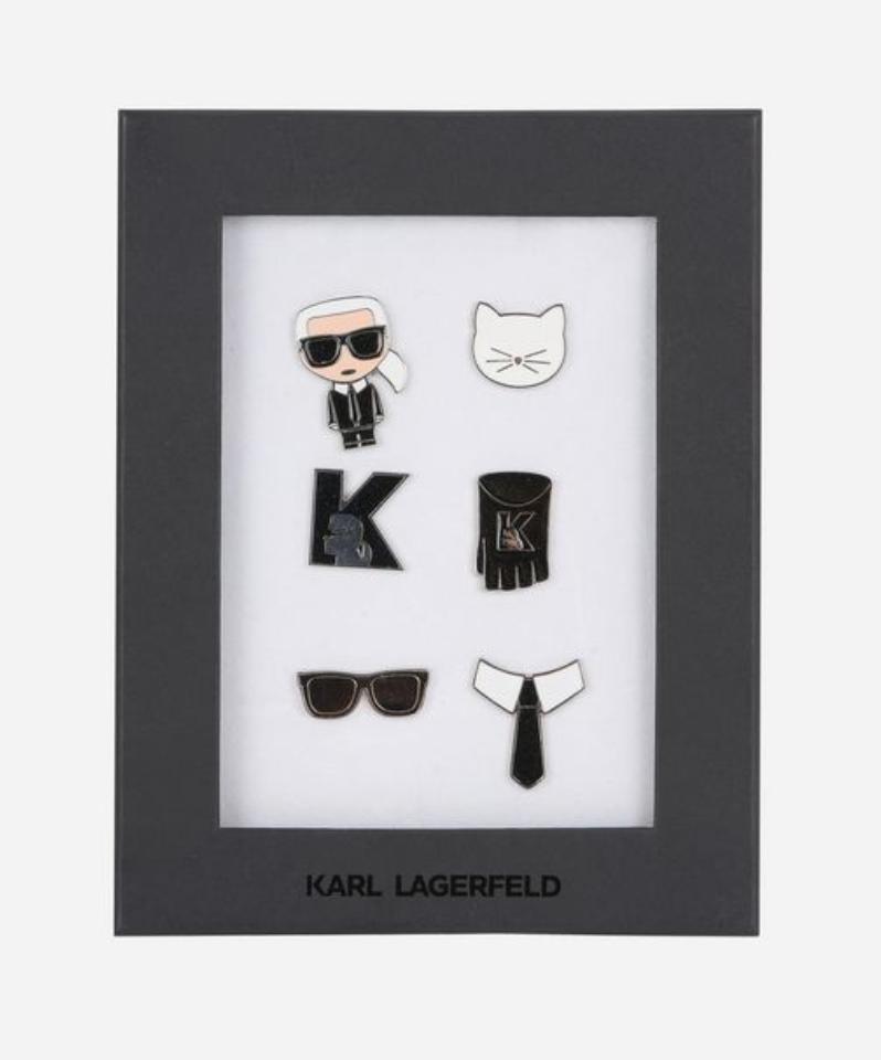 K/IKONIK Karl Lagerfeld Pins, $80, karl.com Photo: Courtesy of Karl.com