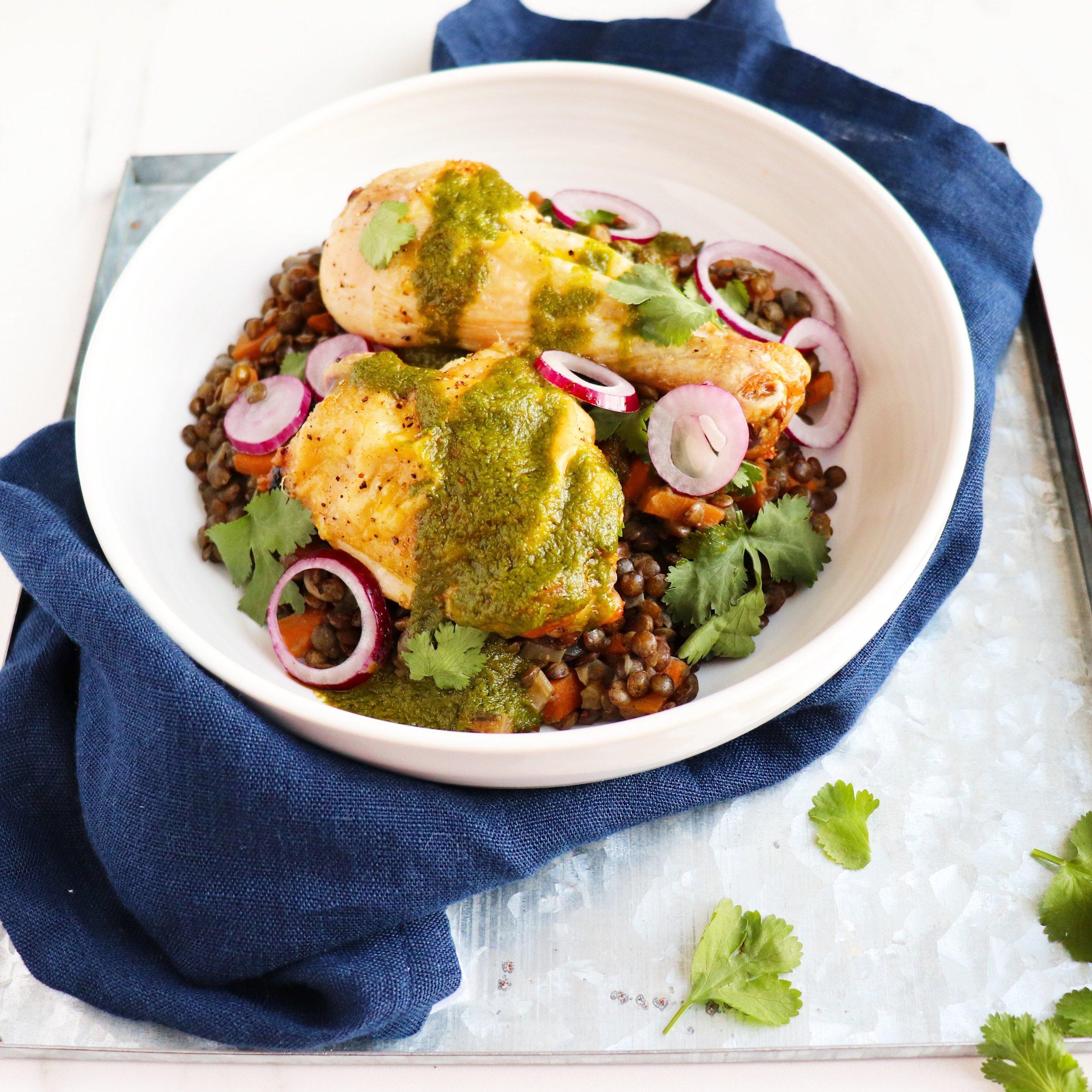 Braised puy lentils n chicken.JPG