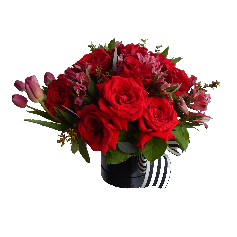 B)   one dozen roses $100