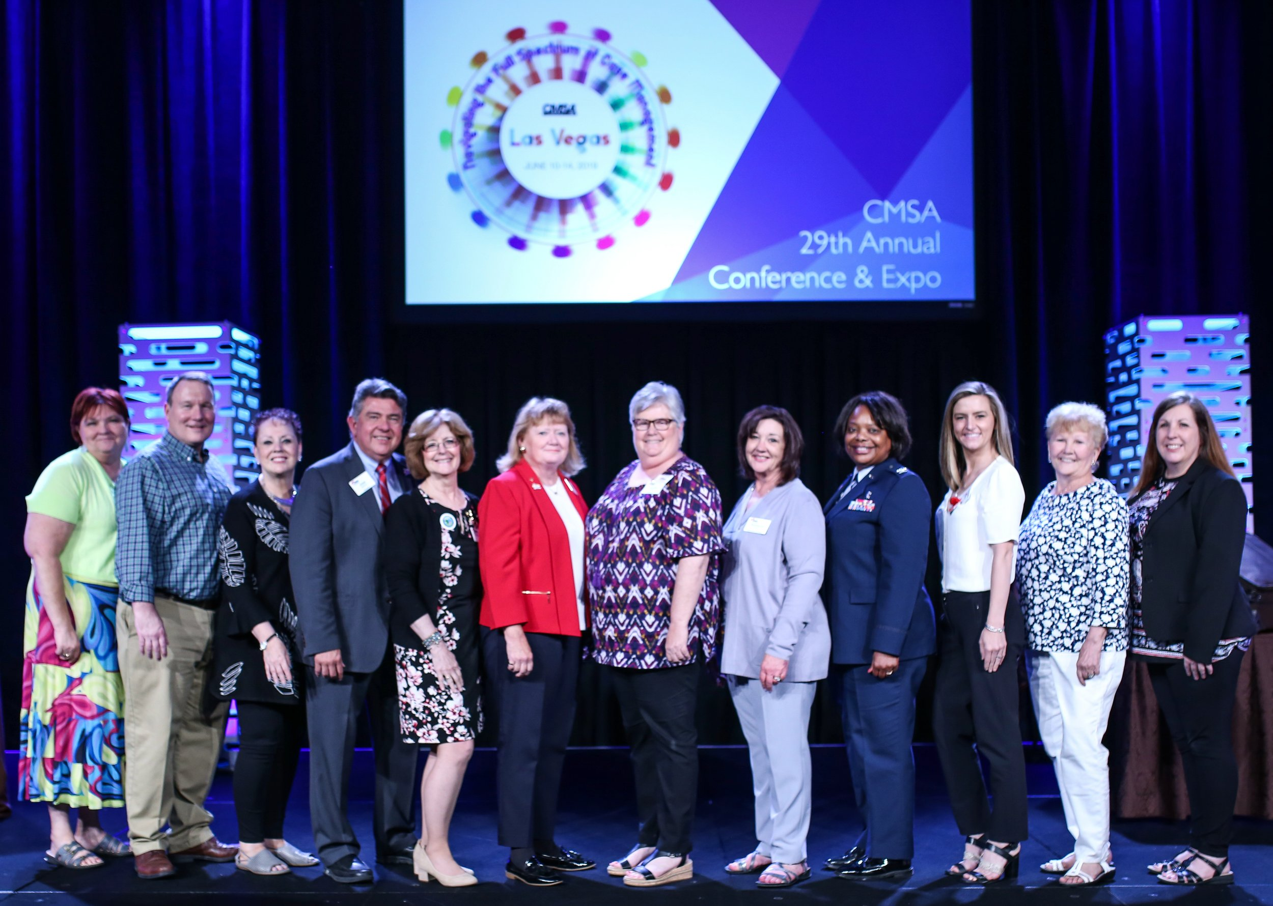 The CMSA Foundation was very excited to have a huge representation at the CMSA Annual Conference in Las Vegas in June 2019. The current board and incoming board were all present!    Left to Right:  Susie Ratterree, Alan Boardman, Sheilah McGlone, Jose Santoro, Patricia Noonan, Deborah Gutteridge, Linda Hobkirk, Rebecca Perez, Melanie Prince, Andrea Norton, Peggy Leonard, and Michele Lee  (Not shown: Mary McLaughlin Davis, outgoing Vice President).