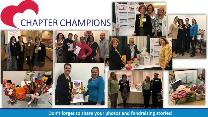 Our Chapter Champions are those chapters who are advocates and supporters of the CMSA Foundation. They may simply be sharing news and Facebook posts, having materials on hand at meetings, or hosting a fundraiser at an event. There are many ways you can be a Champion! Just don't forget to brag so we know who you are!