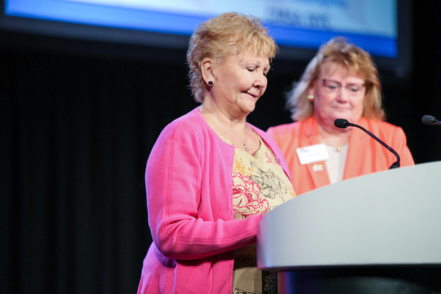 "SPECIAL DONOR HIGHLIGHT:  Donor, long-time supporter, and CMSA Foundation Past President, Margaret ""Peggy"" Leonard, was recognized at the 2019 CMSA Annual Conference for all her support and passion in both the past and the present. She continues to give whether it is through Grant support, or matching gifts to chapter donations.   Thank you, Peggy!"