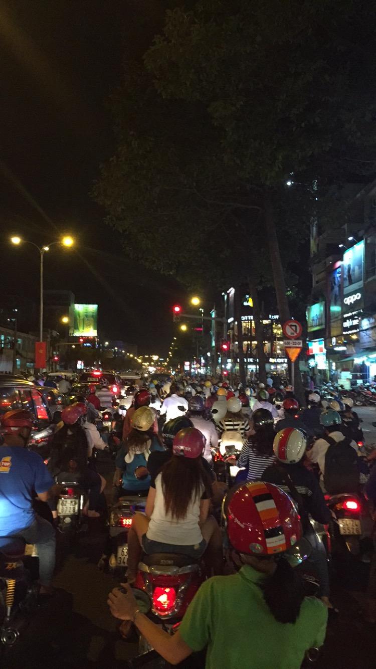 Evening Rush Hour in Saigon