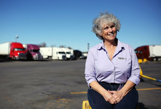 Photo by Mitchell PE Masilun At 66, Idella Hansen has made truck driving her life.